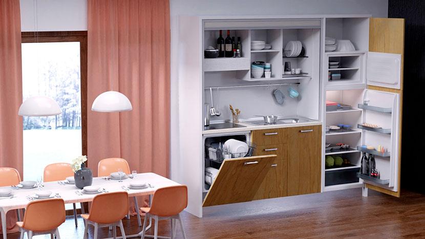 cucine monoblocco notti blu